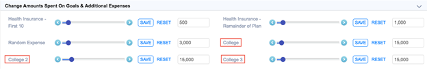 Change Assumed College Expenses