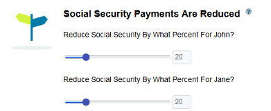 What If Scenario Reducing Social Security Payments